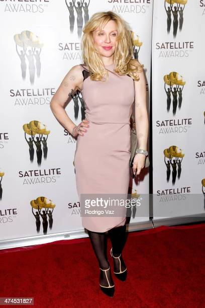 Singer/songwriter Courtney Love arrives at the International Press Academy Satellite Awards at InterContinental Hotel on February 23, 2014 in Century...