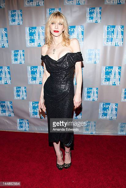 Singersongwriter Courtney Love arrives at the LA Gay Lesbian Center's 'An Evening With Women' at The Beverly Hilton Hotel on May 19 2012 in Beverly...