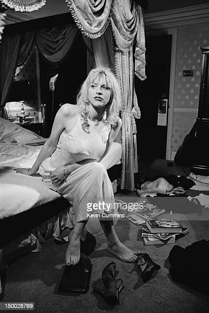 Singersongwriter Courtney Love of American alternative rock group Hole at the Milestone Hotel London 28th August 1994