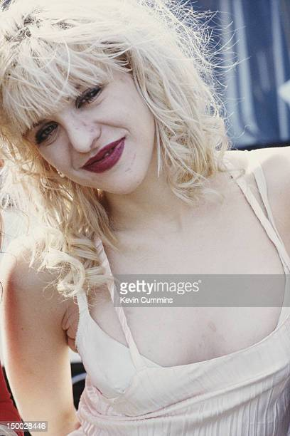 Singersongwriter Courtney Love of American alternative rock group Hole becakstage at Reading Festival 26th August 1994