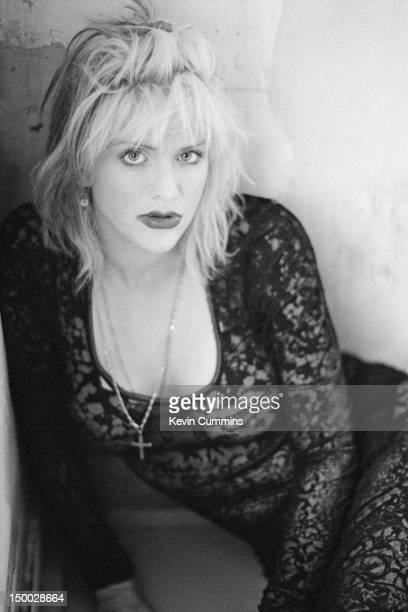 Singersongwriter Courtney Love of American alternative rock group Hole backstage before a concert at Rote Fabrik Zurich Switzerland 13th April 1995