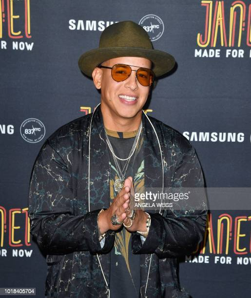Singer/songwriter Daddy Yankee attends his and Janet Jackson's single release party for the new song Made For Now at Samsung 837 in New York on...