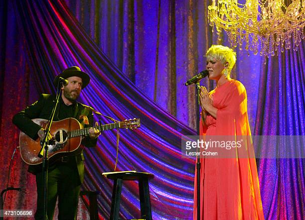 Singersongwriter Dallas Green and honoree Pnk perform onstage during the 63rd Annual BMI Pop Awards held at the Beverly Wilshire Hotel on May 12 2015...