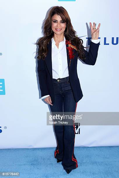 Singersongwriter dancer choreographer actress and television personality Paula Abdul attends We Day Toronto at Air Canada Centre on October 19 2016...