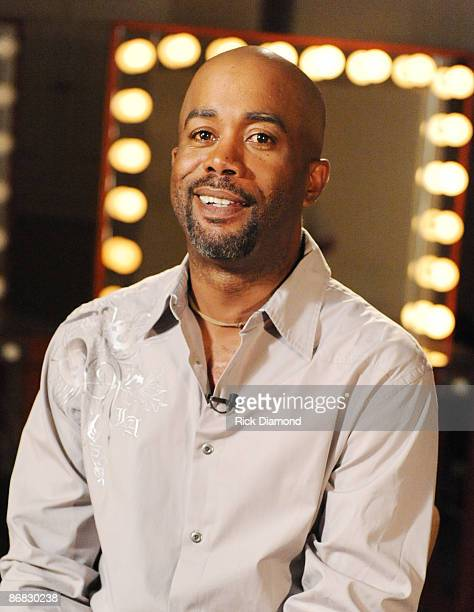 NASHVILLE TN MAY 07 Singer/Songwriter Darius Rucker backstage during the taping of CMT Invitation Only at Grand Ole Opry House Studio A on May 7 2009...