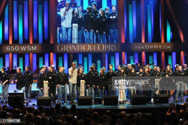 Singer/Songwriter Darius Rucker joins campers during ACM Lifting Lives Music Camp Performance with DARIUS RUCKER at the Grand Ole Opry on July 1 2011...