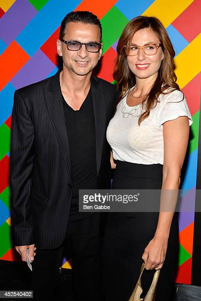 Singersongwriter Dave Gahan and Jennifer SkliasGahan attend Lionsgate and Roadside Attraction's premiere of A Most Wanted Man hosted by The Cinema...