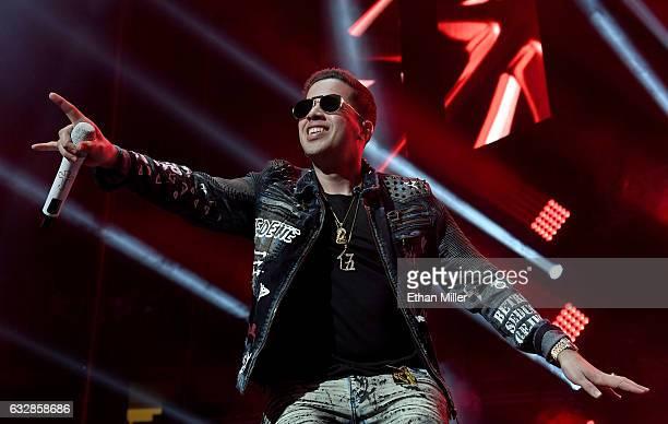 Singer/songwriter De La Ghetto performs during Calibash Las Vegas at TMobile Arena on January 26 2017 in Las Vegas Nevada