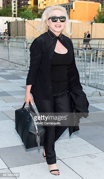Singersongwriter Debbie Harry are seen arriving at the Givenchy fashion show during Spring 2016 New York Fashion Week on September 11 2015 in New...