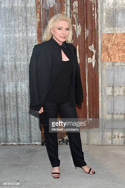 Singersongwriter Debbie Harry attends the Givenchy fashion show during Spring 2016 New York Fashion Week at Pier 26 at Hudson River Park on September...