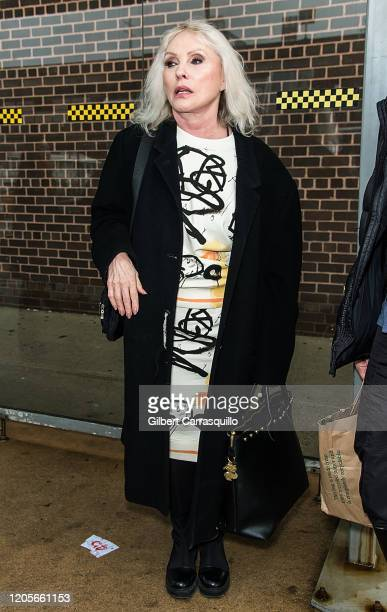 Singersongwriter Debbie Harry is seen leaving the Coach 1941 fashion show during New York Fashion Week on February 11 2020 in New York City