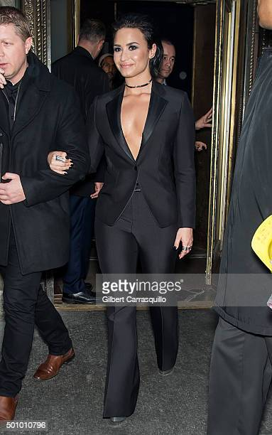 Singer-songwriter Demi Lovato attends Billboard's 10th Annual Women In Music at Cipriani 42nd Street on December 11, 2015 in New York City.