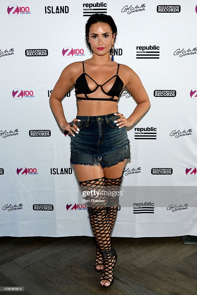 Singer-songwriter Demi Lovato attends Demi Lovato's Debut of her New Single, 'Cool for the Summer,' with Z100 at Gansevoort Park Avenue on July 1, 2015 in New York City.
