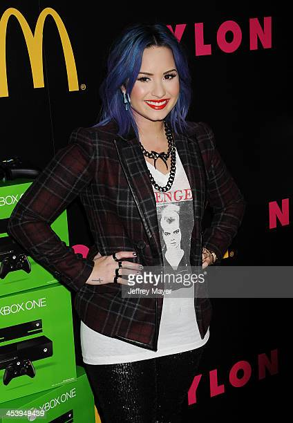 Singer/songwriter Demi Lovato attends NYLON McDonald's Dec/Jan issue launch party hosted by cover star Demi Lovato at Quixote Studios on December 5...