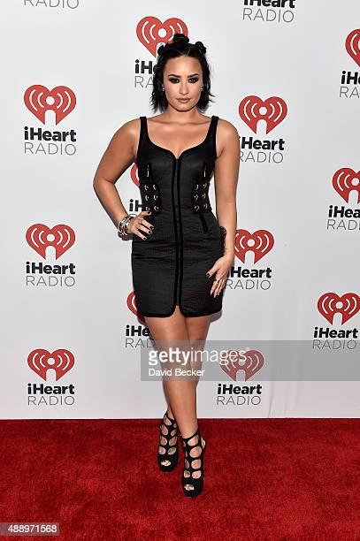 Singer/songwriter Demi Lovato attends the 2015 iHeartRadio Music Festival at MGM Grand Garden Arena on September 18 2015 in Las Vegas Nevada