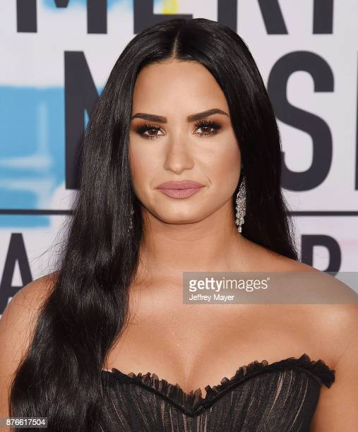Singer/songwriter Demi Lovato attends the 2017 American Music Awards at Microsoft Theater on November 19 2017 in Los Angeles California