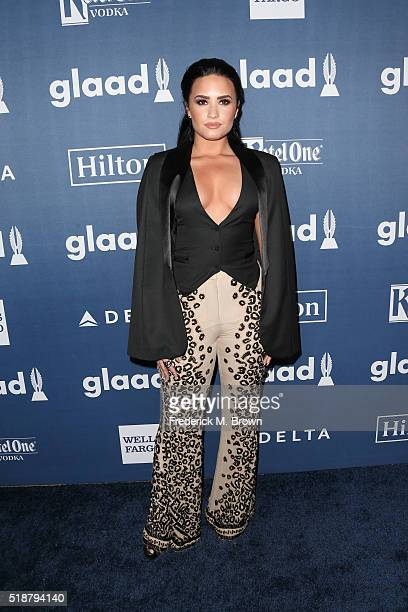 SingerSongwriter Demi Lovato attends the 27th Annual GLAAD Media Awards at the Beverly Hilton Hotel on April 2 2016 in Beverly Hills California