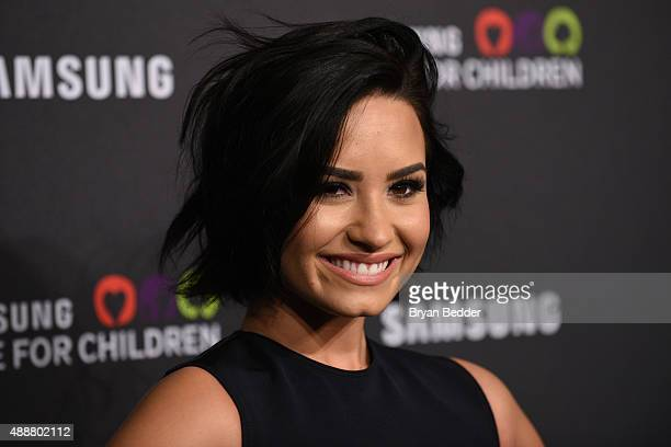 Singersongwriter Demi Lovato attends the Samsung Hope for Children Gala 2015 at Hammerstein Ballroom on September 17 2015 in New York City