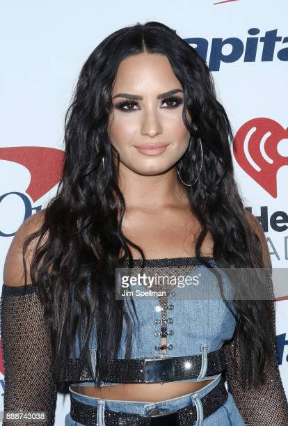 Singer/songwriter Demi Lovato attends the Z100's iHeartRadio Jingle Ball 2017 at Madison Square Garden on December 8 2017 in New York City
