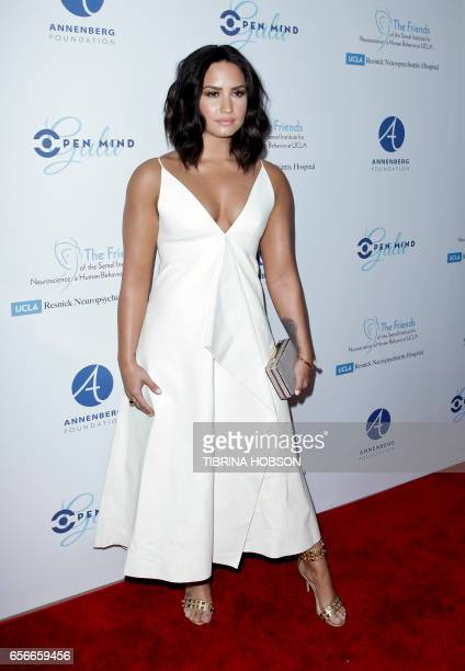 Singer-songwriter Demi Lovato attends UCLA's Semel Institute's Biannual 'Open Mind Gala' at The Beverly Hilton Hotel in Beverly Hills, California on...