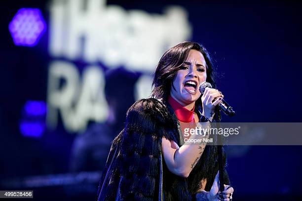 Singer/songwriter Demi Lovato performs onstage during 106.1 KISS FM's Jingle Ball 2015 presented by Capital One at American Airlines Center on...