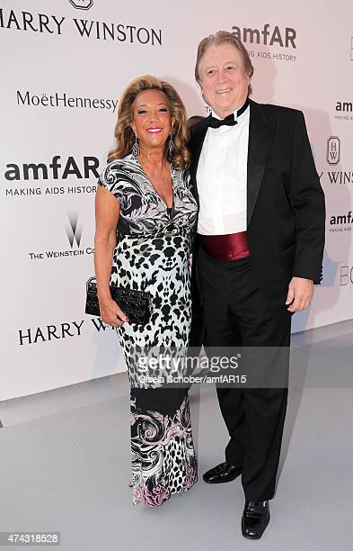Singersongwriter Denise Rich and Peter Cervinka attend amfAR's 22nd Cinema Against AIDS Gala Presented By Bold Films And Harry Winston at Hotel du...