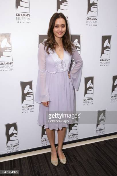 Singer/songwriter Dia Frampton attends Spotlight Dia Frampton at The GRAMMY Museum on March 2 2017 in Los Angeles California