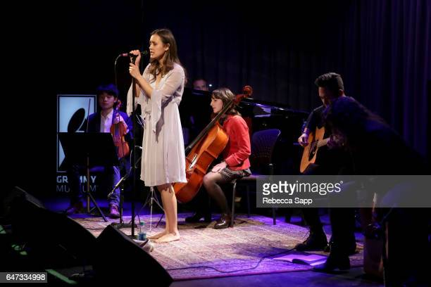 Singer/songwriter Dia Frampton performs at Spotlight Dia Frampton at The GRAMMY Museum on March 2 2017 in Los Angeles California