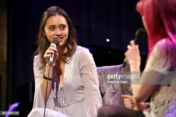 Singer/songwriter Dia Frampton speaks onstage at Spotlight Dia Frampton at The GRAMMY Museum on March 2 2017 in Los Angeles California