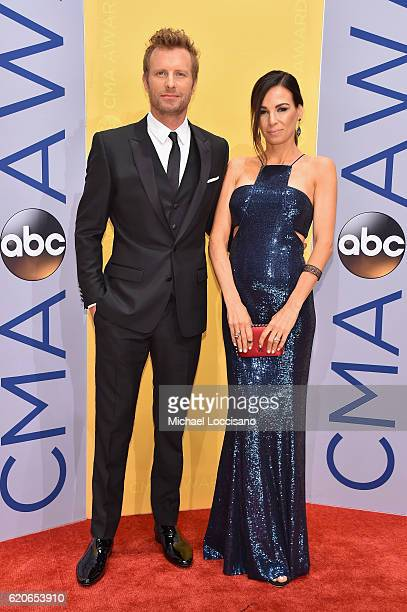 Singersongwriter Dierks Bentley and Cassidy Black attend the 50th annual CMA Awards at the Bridgestone Arena on November 2 2016 in Nashville Tennessee