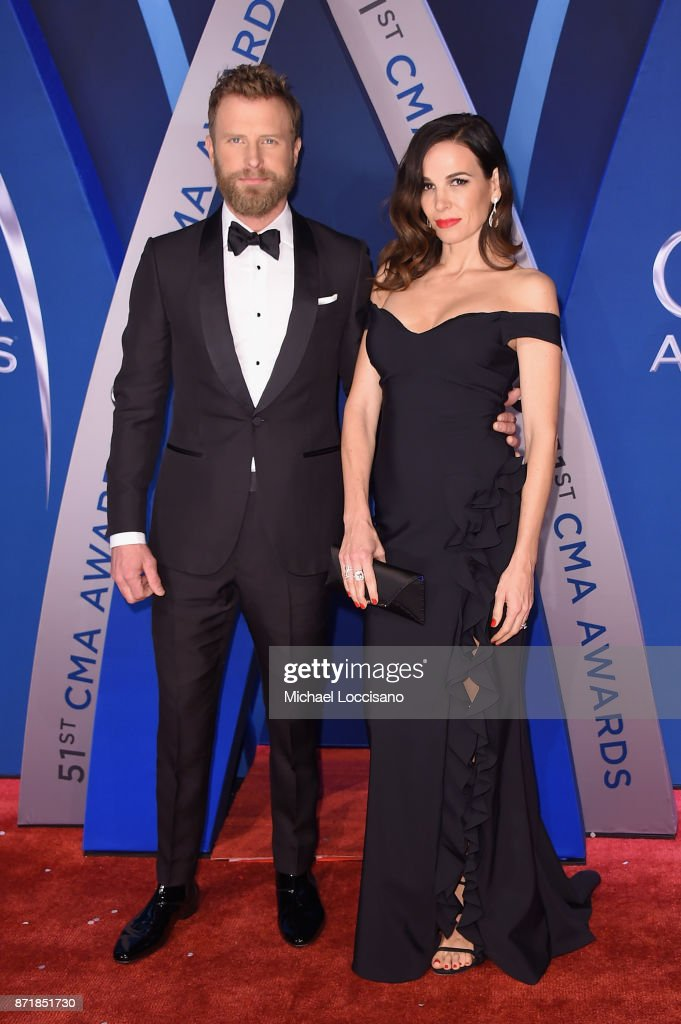 Singer-songwriter Dierks Bentley and Cassidy Black attends the 51st annual CMA Awards at the Bridgestone Arena on November 8, 2017 in Nashville, Tennessee.