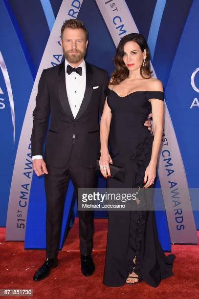 Singersongwriter Dierks Bentley and Cassidy Black attends the 51st annual CMA Awards at the Bridgestone Arena on November 8 2017 in Nashville...
