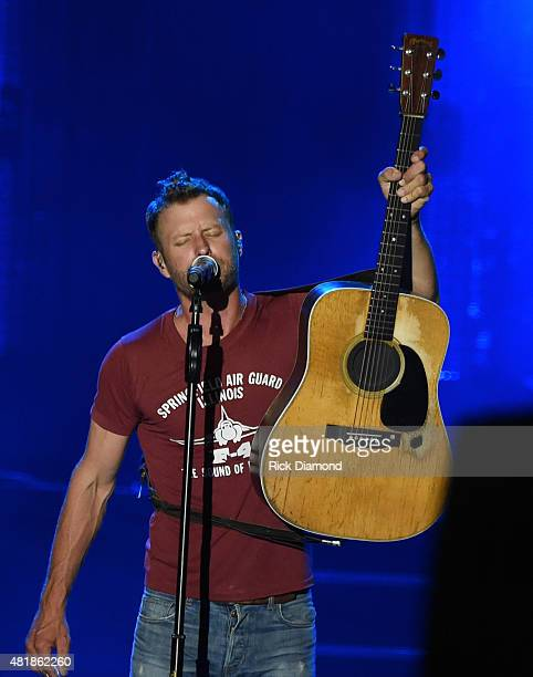 Singer/Songwriter Dierks Bentley performs at Country Thunder In Twin Lakes Wisconsin Day 2 on July 24 2015 in Twin Lakes Wisconsin