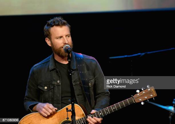 Singersongwriter Dierks Bentley performs onstage during the 55th annual ASCAP Country Music awards at the Ryman Auditorium on November 6 2017 in...