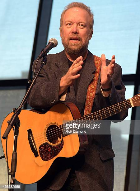 Singer/Songwriter Don Schlitz performs at the Country Music Hall of Fame Kenny Rogers Exhibit Opening Reception at the Country Music Hall of Fame and...