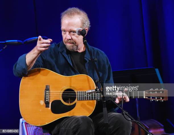 Singer/Songwriter Don Schlitz performs during Bob McDill Donation Ceremony at Country Music Hall of Fame and Museum on July 31 2017 in Nashville...