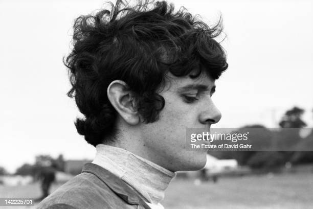 Singer/songwriter Donovan backstage before making his US debut backstage at the Newport Folk Festival in July 1965 in Newport Rhode Island
