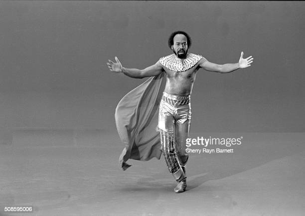 Singersongwriter drummer producer and cofounder of Earth Wind Fire Maurice White poses for a portrait during the video shoot for the song 'Fall In...
