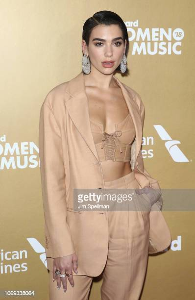 Singer/songwriter Dua Lipa attends the Billboard's 13th Annual Women in Music event at Pier 36 on December 6 2018 in New York City