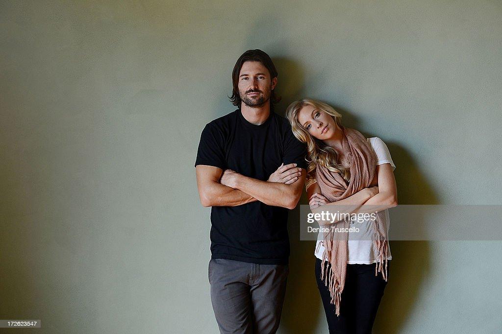Singer/Songwriter Duo Brandon Jenner & Leah Jenner Of Brandon & Leah Portrait Shoot At Casa LucaMarco