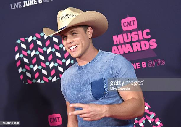 Singersongwriter Dustin Lynch attends the 2016 CMT Music awards at the Bridgestone Arena on June 8 2016 in Nashville Tennessee