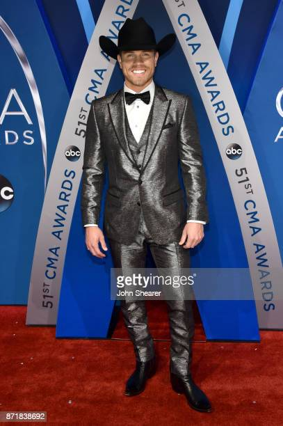 Singersongwriter Dustin Lynch attends the 51st annual CMA Awards at the Bridgestone Arena on November 8 2017 in Nashville Tennessee