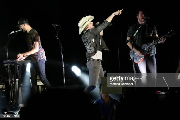 Singersongwriter Dustin Lynch performs on stage during The Ride or Die Tour at PlayStation Theater on December 2 2017 in New York City
