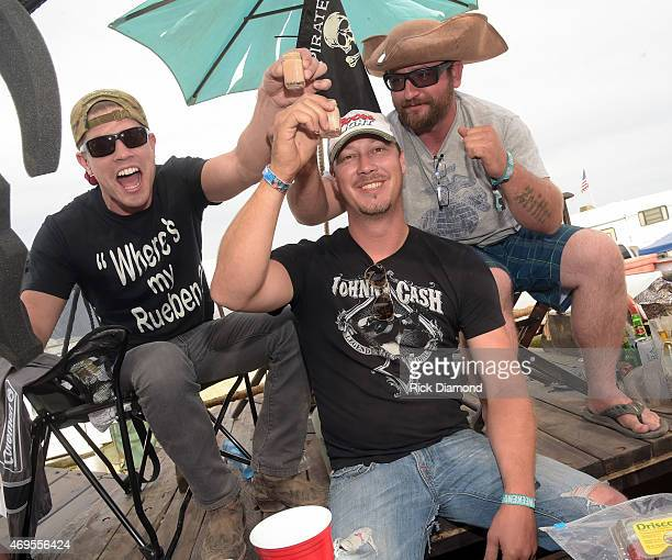 Singer/Songwriter Dustin Lynch visits fans out in campsites during Country Thunder USA Day 4 on April 12 2015 in Florence Arizona