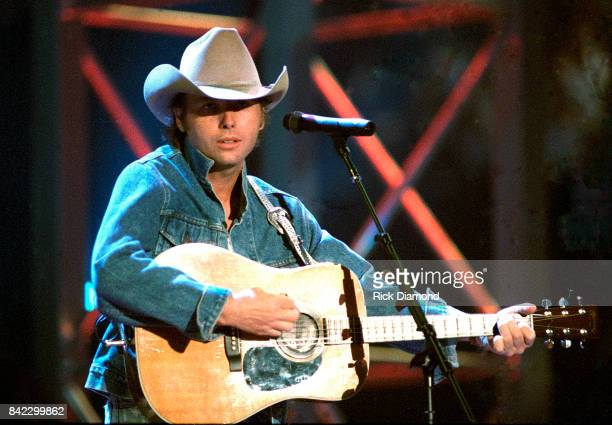 Singer/Songwriter Dwight Yoakam performs during Elvis The Tribute at The Pyramid Arena in Memphis Tennessee October 08 1994