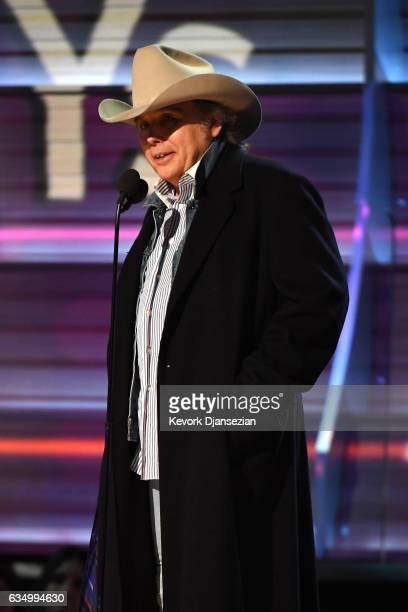 Singersongwriter Dwight Yoakam speaks onstage during The 59th GRAMMY Awards at STAPLES Center on February 12 2017 in Los Angeles California