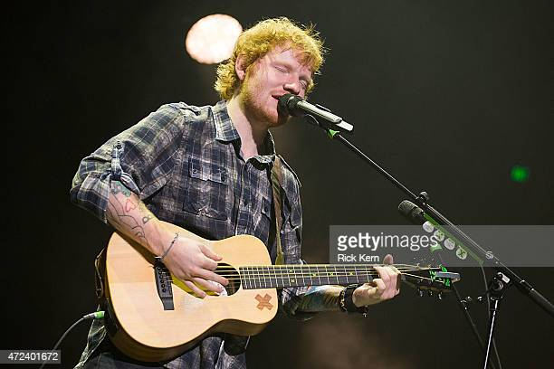 Singersongwriter Ed Sheeran performs in concert during the opening night of the North American leg of his 'Multiply World Tour' at The Frank Erwin...