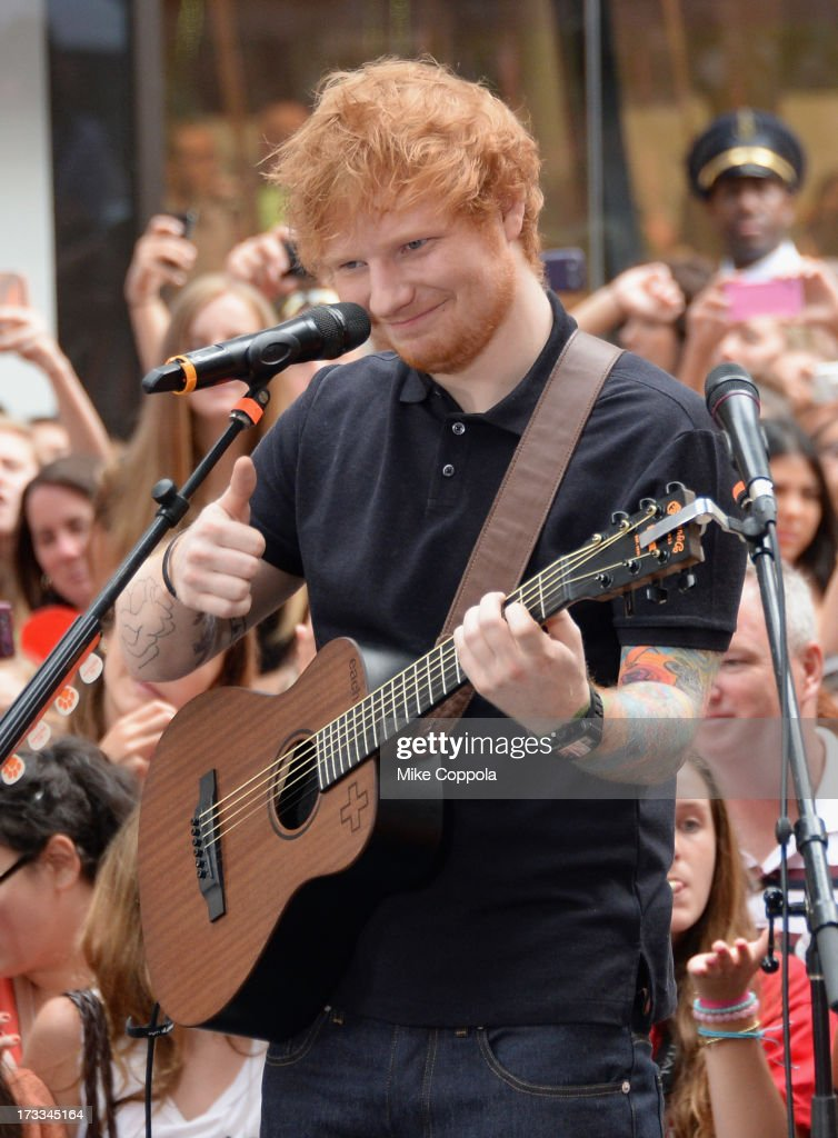 Singer/songwriter Ed Sheeran performs on NBC's 'Today' at the NBC's TODAY Show on July 12, 2013 in New York, New York.