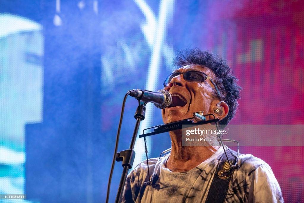 Singer-songwriter Edoardo Bennato in concert at the Puglia Outlet ...