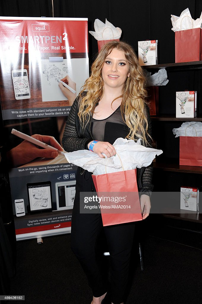 Singer/songwriter Ella Henderson attends the 2014 American Music Awards UPS Gifting Suite at Nokia Theatre L.A. Live on November 22, 2014 in Los Angeles, California.